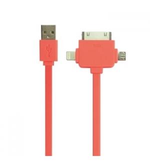 Cabo USB 2.0 para micro USB + Apple 3 em 1