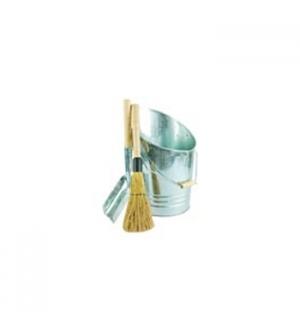 Conjunto de Limpeza de Cinzas (Balde + Pa + Vassoura)