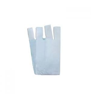 Sacos Plástico Alças 45x55cm Branco Pack 5Kg