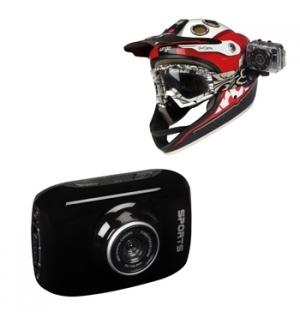 Camara HD para Desportos com Kit de Suportes Diversos 720P