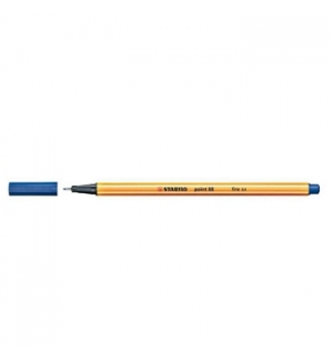 Marcador Fino 0,4mm Stabilo Fineliner Point 88 Azul Cx 10un