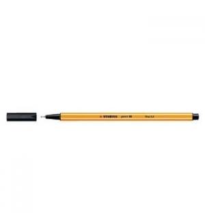 Marcador Fino 0,4mm Stabilo Fineliner Point 88 Preto Cx 10un