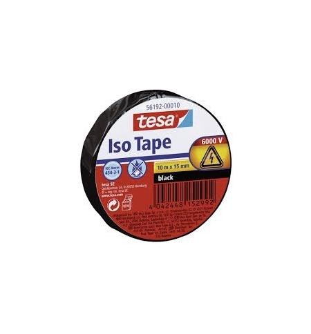 Fita Adesiva Tesa p/Isolamento Electrico 15mmx10ms Preto