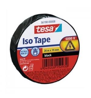 Fita Adesiva Tesa p/Isolamento Electrico 19mmx20ms Preto