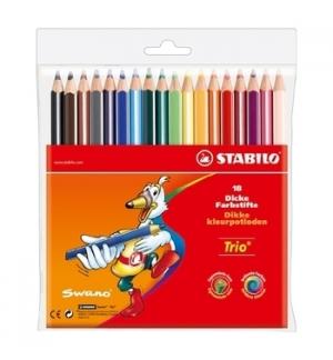 Lapis Cor 18cm Stabilo Color Carteira Plastica 18un