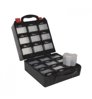 Caixa organizacao 340 x285x145mm c/18 compartimentos c/clip