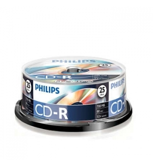 CD-R Philips 700Mb 52x 80min Spindle Pack 25