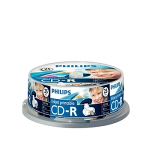 CD-R Philips 700Mb 52x 80min Impressao Spindle Pack 25