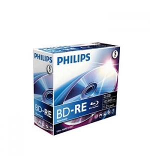 DVD BD RE Blu-Ray Philips 25GB 2X Jewell Case 5