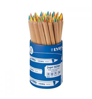 Lápis Cor 18cm Lyra Super Ferby 4 cores Copo 36un