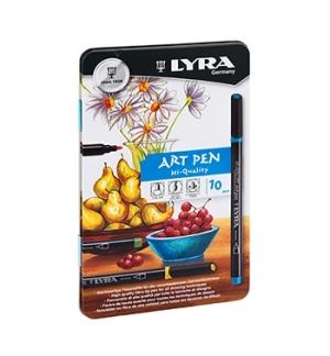 Marcador Lyra Hi-Quality Art Pen Cx Metal 10un