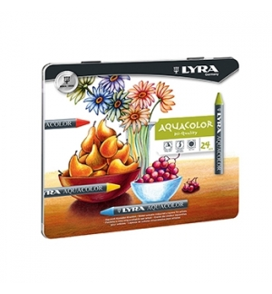 Lapis Cera Lyra Aquacolor Cx Metal 24un