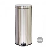 Papeleira Metal Aco Inox c/ Pedal 30 Litros