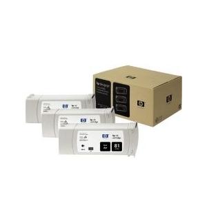Tinteiro DesignJet 5000/5500 (C5066A) N81 Preto PacK3