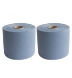 Rolo Toalhas Maos CleanSpot Azul 2Fl (400mts) - (2un)