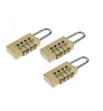 Cadeado de 20mm c/ combinao em pack de 3un