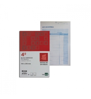 Blocos Impressos-Nota de Entrega- 155x215mm c/Duplicado