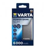 Powerbank Slim Varta 6000 mAh Cinzento 1un